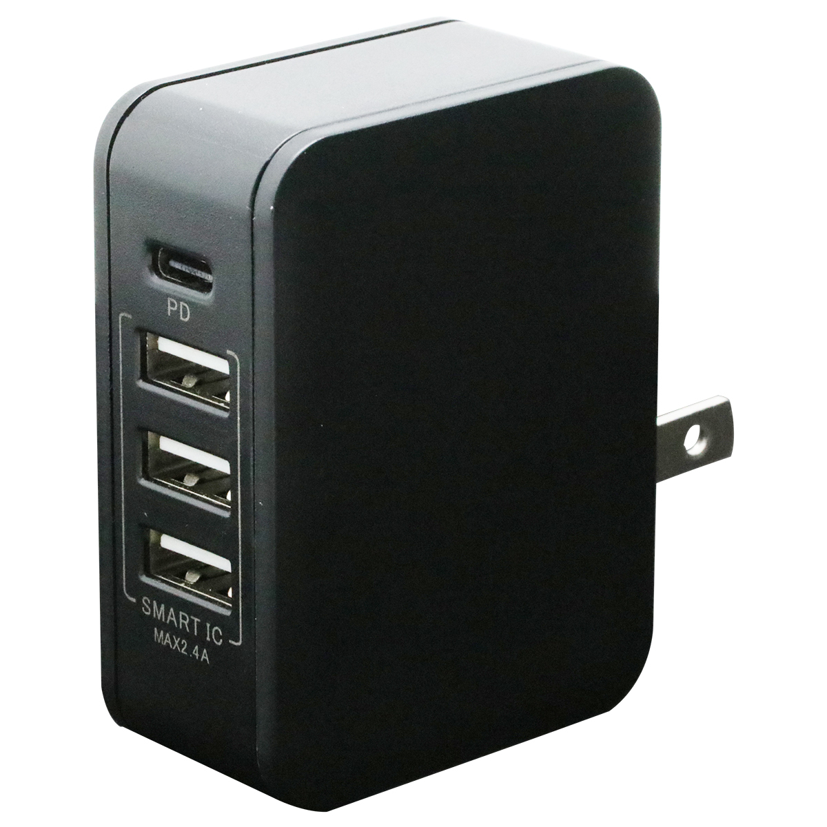 PD対応Type-C/3USBポートAC充電器32W